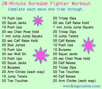 20 minute boredom fighter workout wrecking routine