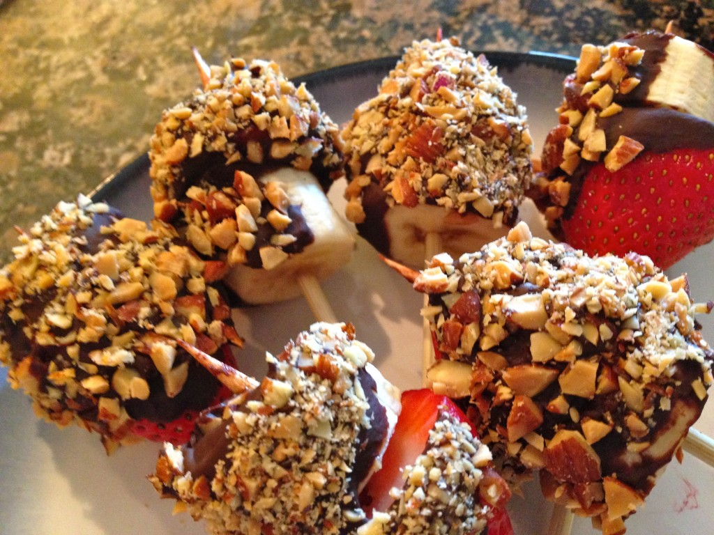 Chocolate Strawberry Banana Bites
