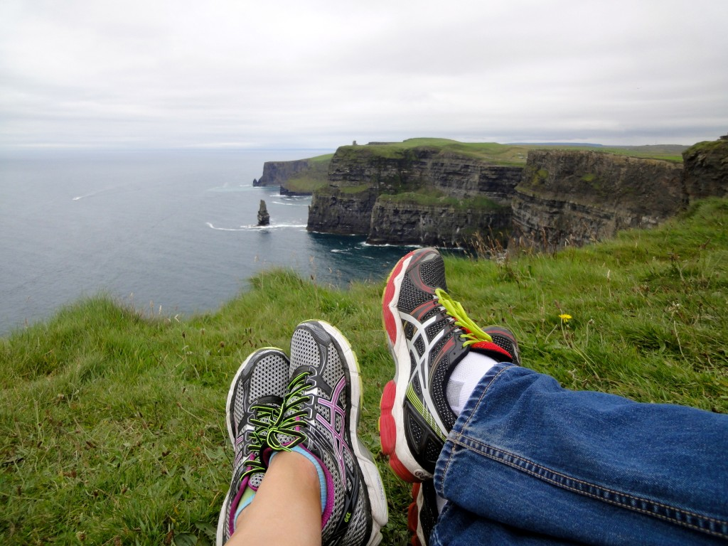 Trying to slow down at Cliffs of Moher