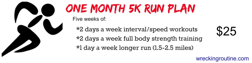 One Month 5k Run Plan