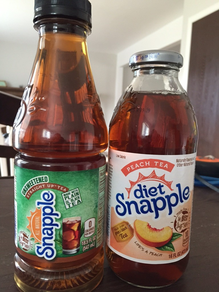 Snapple Better For You - Snapple Straight Up Tea & Diet Peach