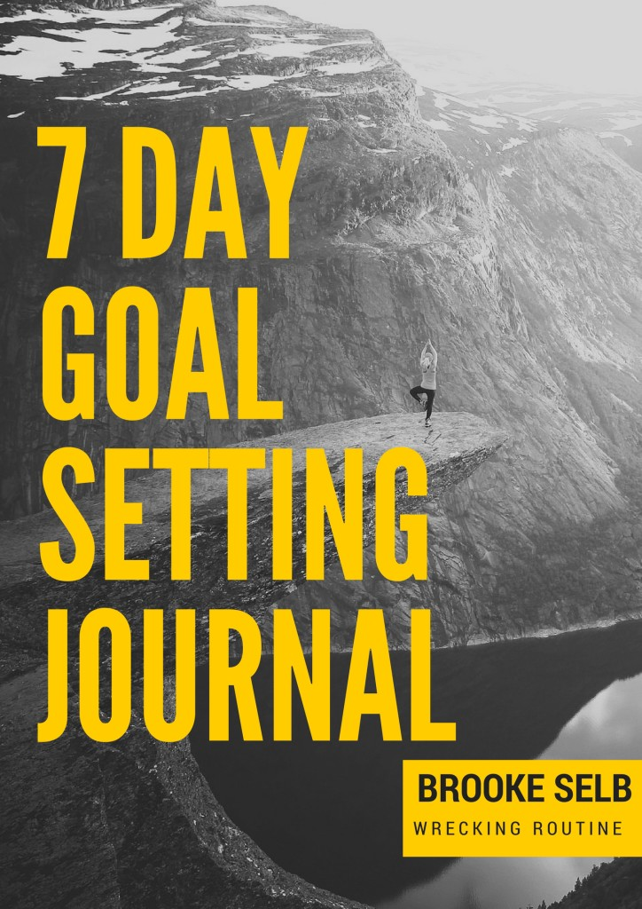 7 day Goal Setting Journal