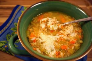 Spicy Chicken Rice Soup with parmesan